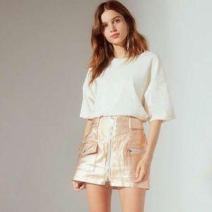 Urban Outfitters Parker Metallic Zipper Skirt